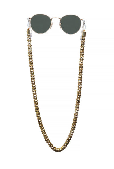 Gold & Glowing Mask / Sunglass Chain