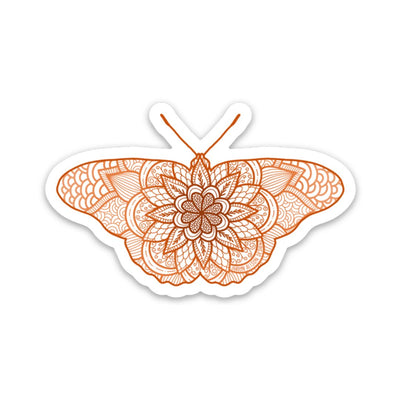 Mandala Butterfly Vinyl Sticker