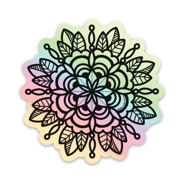 Holographic Mandala 1 Vinyl Sticker