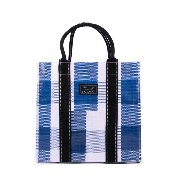 Navy Check Totes-Ma-Goat Bag