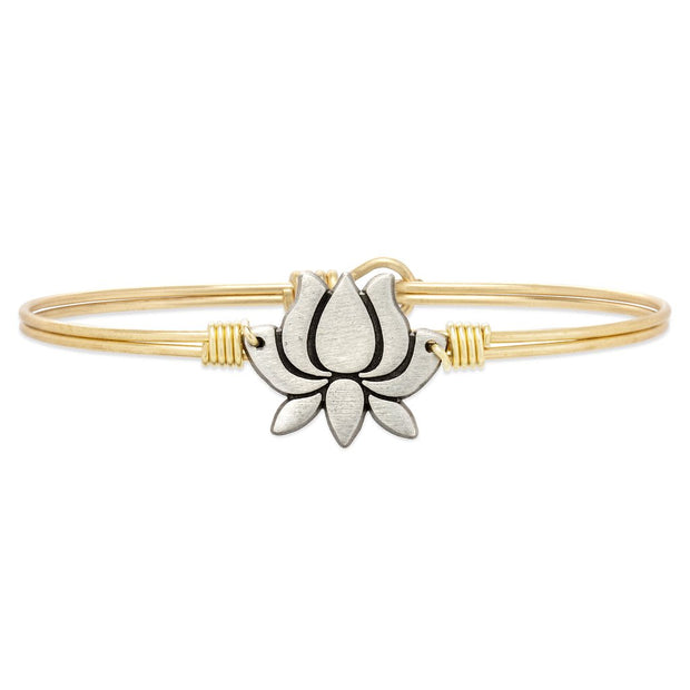 Luca and Danni Lotus Flower Bangle Bracelet
