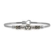 Luca and Danni Claddagh Bangle Bracelet