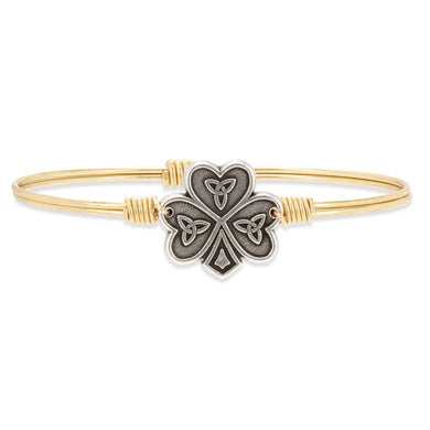 Luca and Danni Shamrock Bangle Bracelet