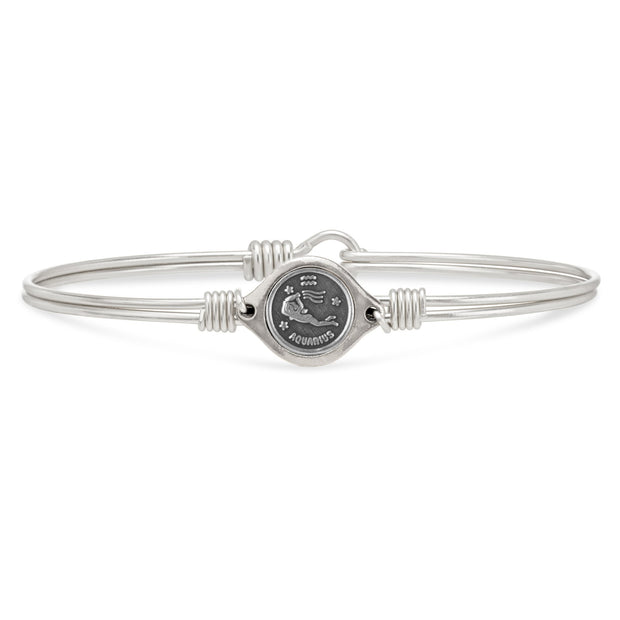 Luca and Danni Aquarius Zodiac Bangle Bracelet