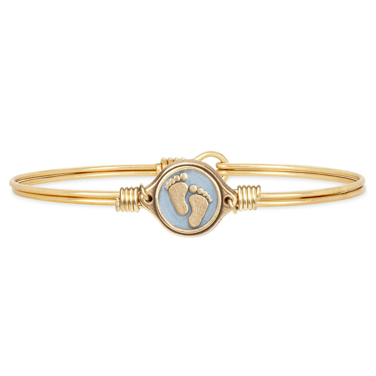 Luca and Danni Little Footsteps Bangle Bracelet in Blue