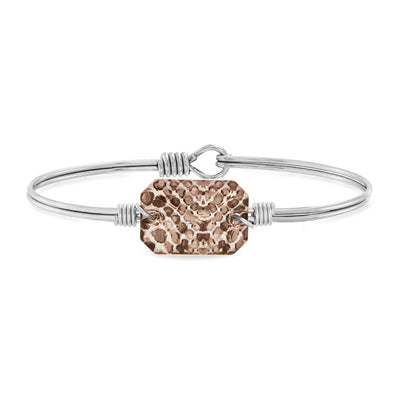 Dylan Bangle Bracelet in Snakeskin