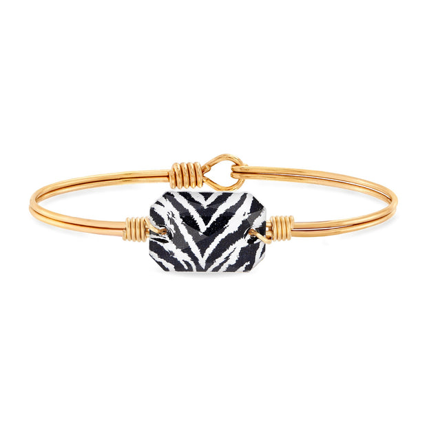 Dylan Bangle Bracelet in Zebra