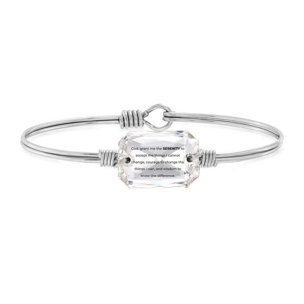 Serenity Prayer Bangle Bracelet in Crystal Swarovski