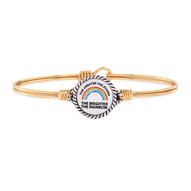 Rainbow of Hope Bangle Bracelet
