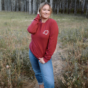 Crimson Poppy Long Sleeve Tee