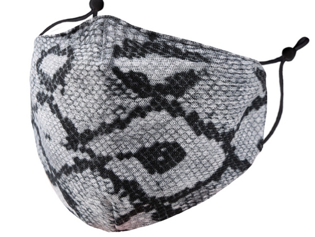 Smoke Python Adult Face Mask