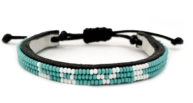 Turquoise Beaded Love Bracelet