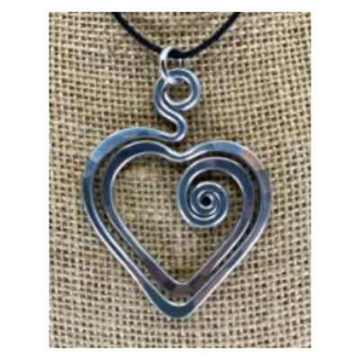 The Artist Jay Heart Pendant Necklace