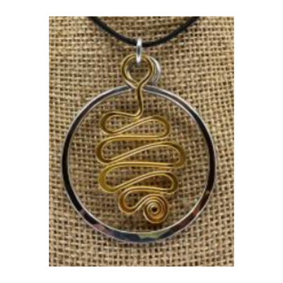 The Artist Jay Circle Squiggle Pendant Necklace