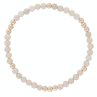 Worthy Pattern 4mm Bead Bracelet - Riverstone