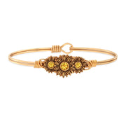 Sunflowers Bangle Bracelet