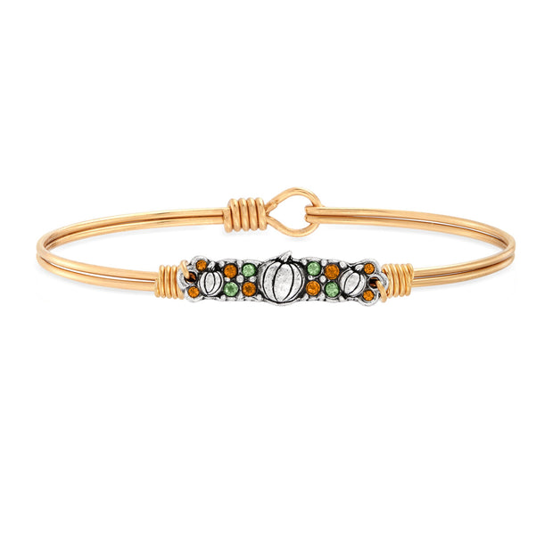 Pumpkin Medley Bangle Bracelet