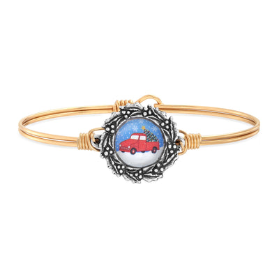 Holiday Truck Bangle Bracelet