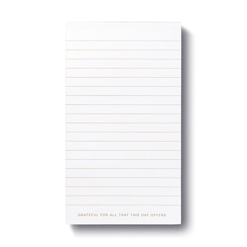 """We do not remember days"" List Pad"