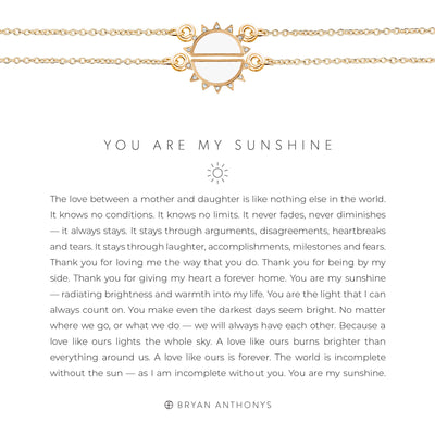You Are My Sunshine Necklace Set