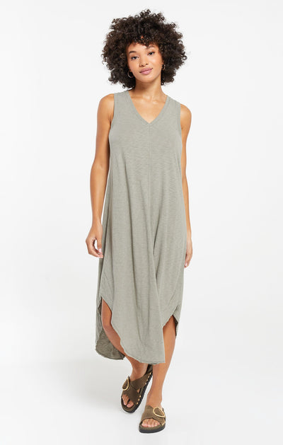 The Reverie Dress in Dusty Sage