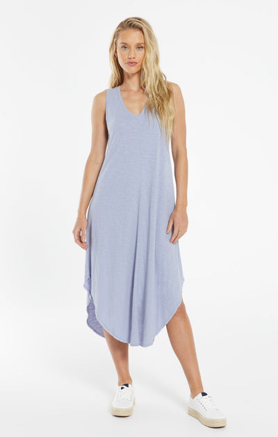 The Reverie Dress in Lavender Grey