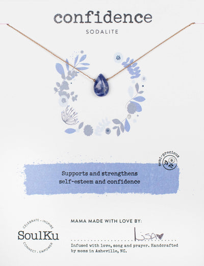 Soulku Sodalite Necklace for Confidence