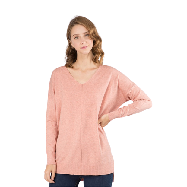 Perfect Sweater Heathered Coral