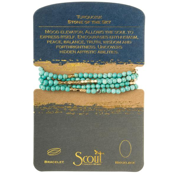Scout Curated Wears Stone Wrap- Turquoise/Gold