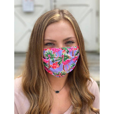 Flamingo Pleated Face Mask
