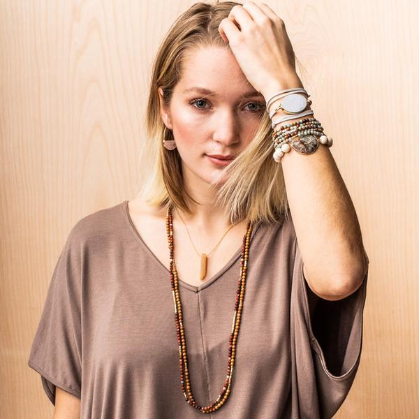 Scout Curated Wears Stone Wrap - Picasso Jasper