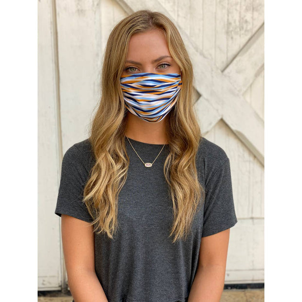 Fall Ribbons Adjustable Pleated Face Mask