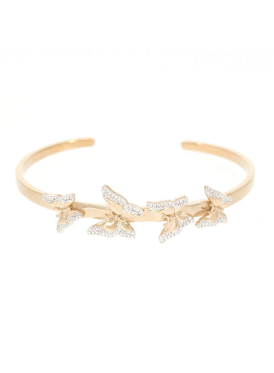 Beautiful Butterfly Diamond Cuff