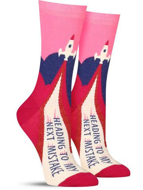 Heading To My Next Mistake Women's Crew Socks