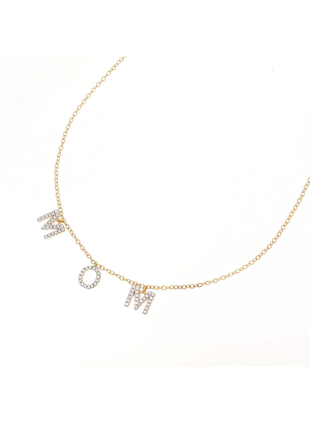 Love You Mom Diamond Necklace