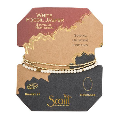 Scout Curated Wears Delicate Stone Wrap- White Fossil