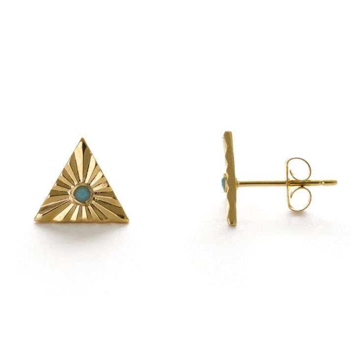 Turquoise Glint Studs