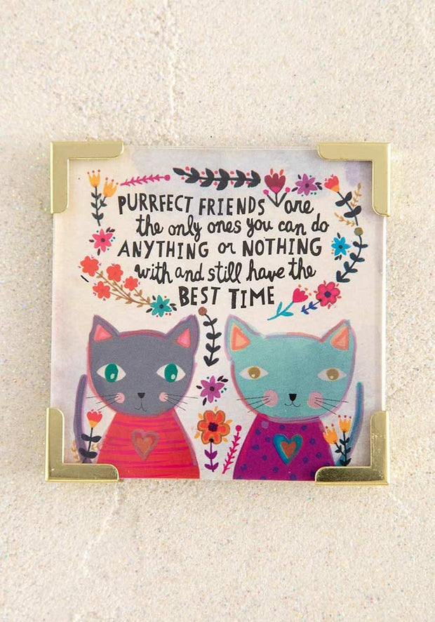 Purrfect Friend Corner Magnet