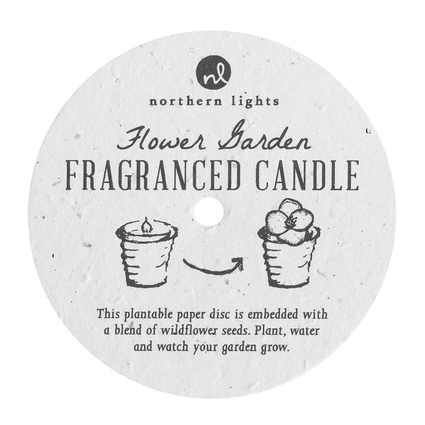 Flower Garden Candle Pink Catchfly
