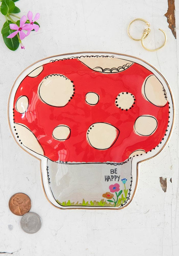 Be Happy Mushroom Trinket Bowl