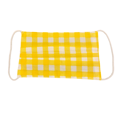 Yellow Gingham Kids Mask