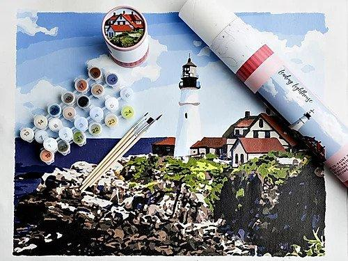 Leading Lighthouse Paint By Numbers Art Kit