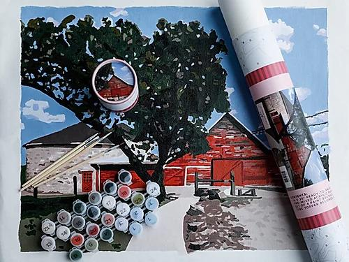 Rustic Red Paint By Numbers Art Kit