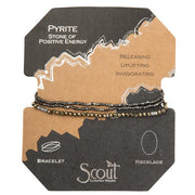 Scout Curated Wears Delicate Stone Wrap- Pyrite