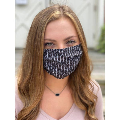Chevron Pleated Face Mask