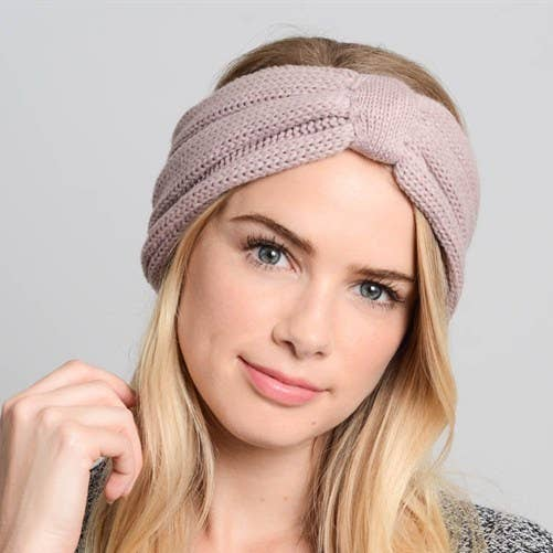 Bow Crochet Knit Headband