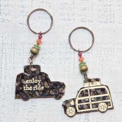 Enjoy The Ride Token Keychain