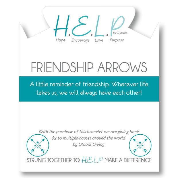 T. Jazelle H.E.L.P Friendship Arrows Bracelet