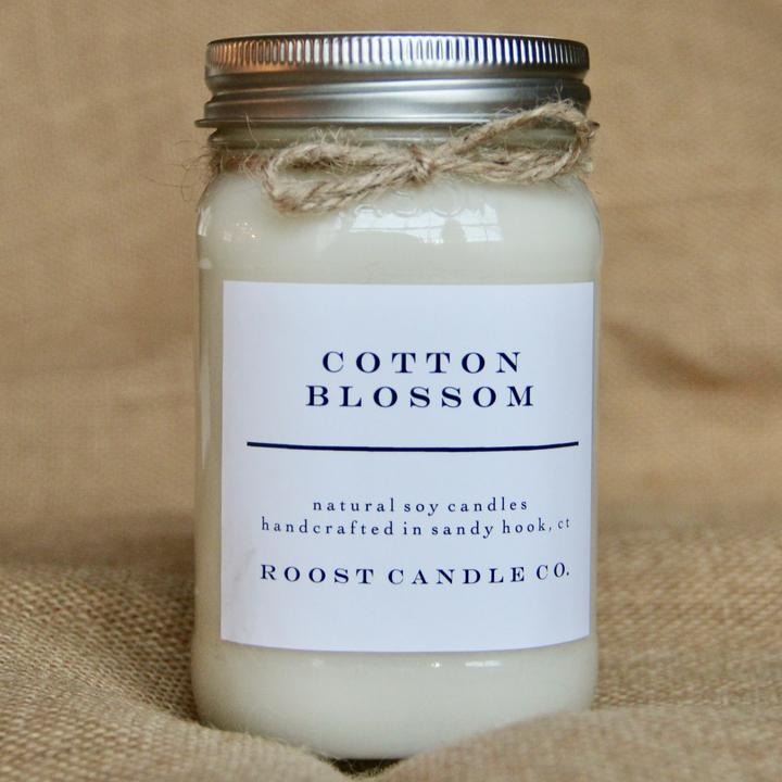 Cotton Blossom Mason Jar 16oz Candle