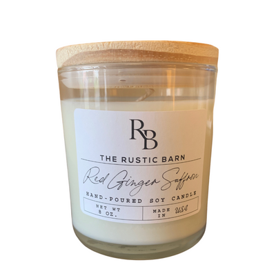 Red Ginger Saffron Rustic Barn 8 oz Candle